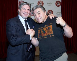 Gordy Racette, a Nanaimo legend, pictured here with George Chuvalo